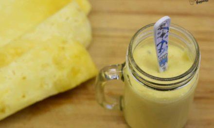Leckerer Kokos Hirse Pudding mit Ananas ganz einfach