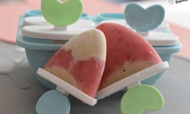 Leckers Erdbeer-Erdnuss-Eis mit Banane in 5 Minuten leicht selbst gemacht