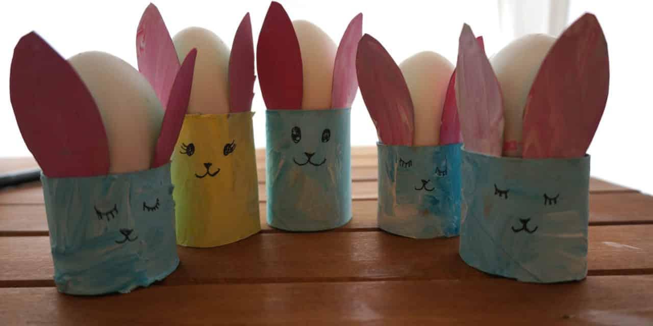 DIY Ostern: Eierbecher Hasenfamilie
