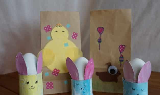 Ostergeschenk-Tüte mit Küken: Genial Last Minute DIY Idee in 4 Schritten