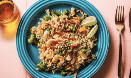 Köstliche Garnelen mit Gebratenem Reis, schnell und einfach zubereitet: Rezept des Monats HelloFresh