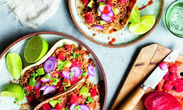 Eat Meat Less: Tacos mit Blumenkohl und Kürbiskernen