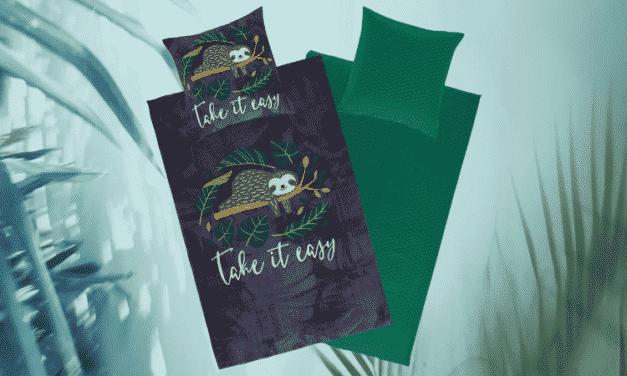 Gewinnspiel: Take it easy Faultierbettwäsche